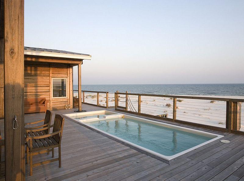 piscina na casa de praia