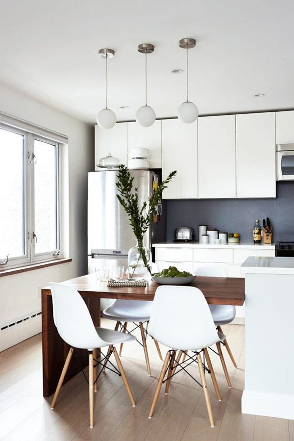 cozinha integrada com madeira