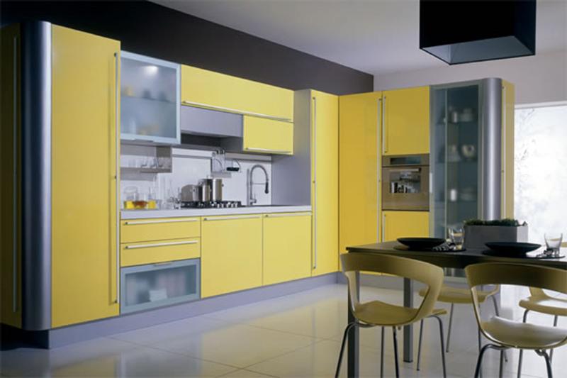 vidros na cozinha planejada