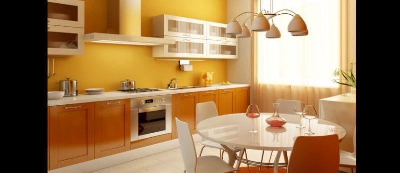 cozinha planejada iluminada