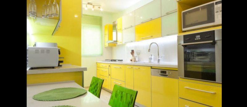 cozinha planejada verde