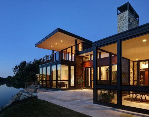 fachada de casa com metal