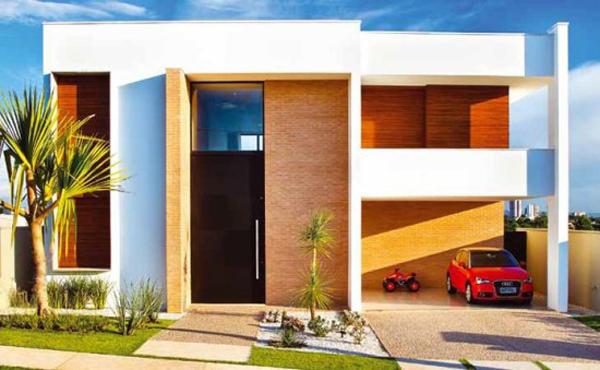 fachada de casa moderna e diferente