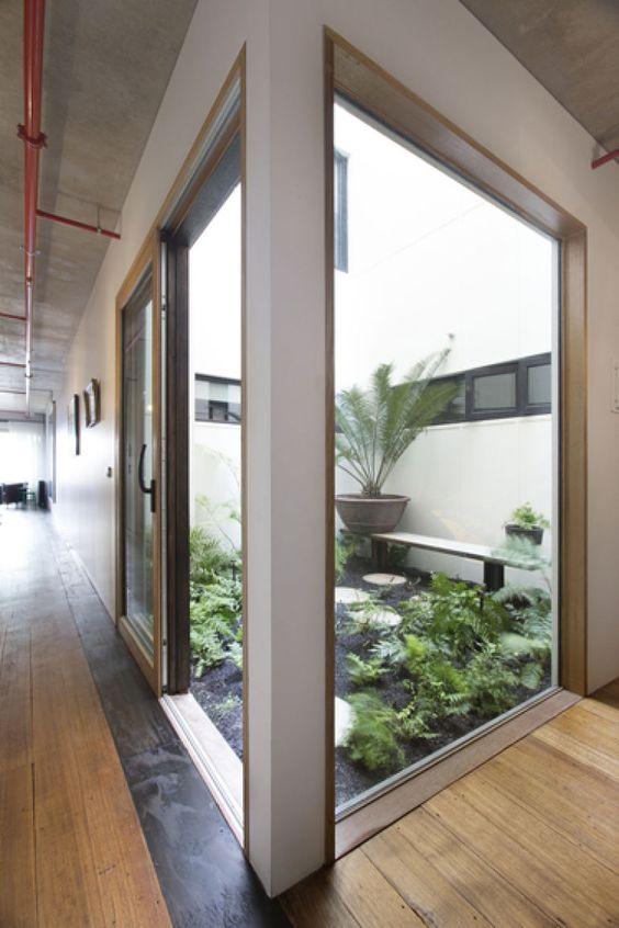 jardim interno fechado