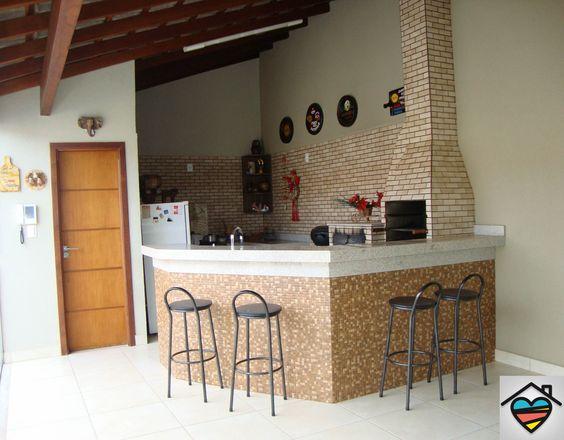 espaço do churrasco com tijolo