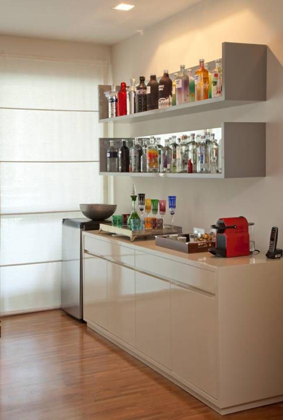 barzinho de parede na cozinha
