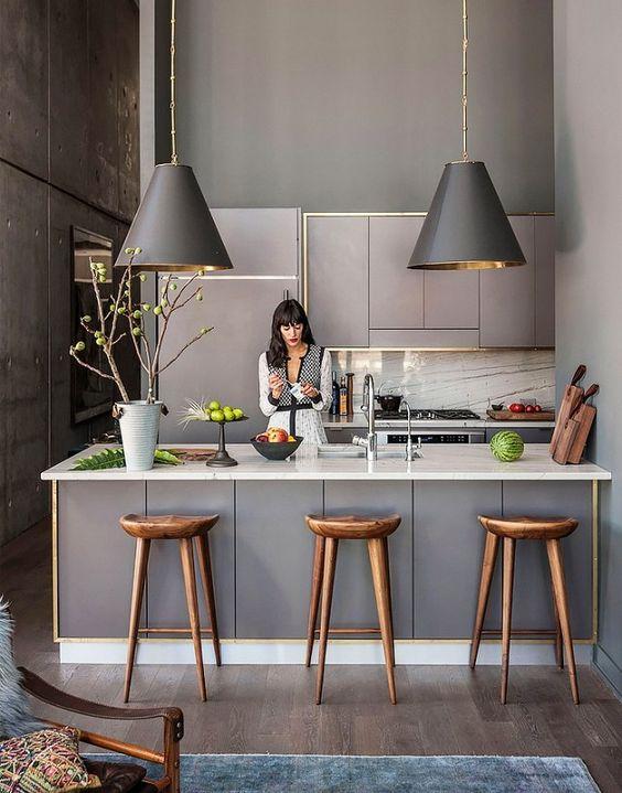 cozinha com lustre