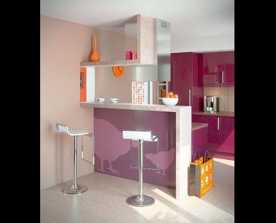 cozinha com lilás
