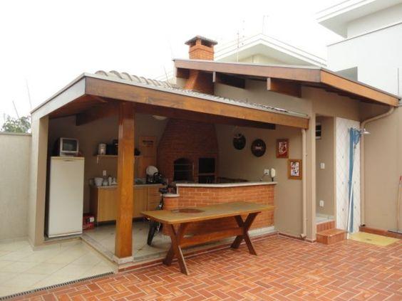 espaço do churrasco madeira e piso