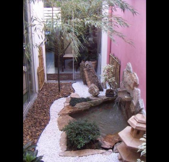 jardim interno com cor