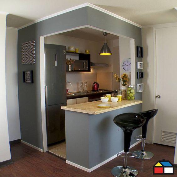 cozinha com cinza