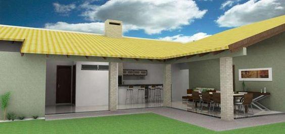 espaço do churrasco com telhado colorido