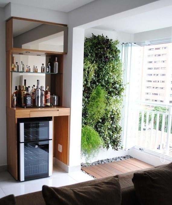 barzinho de parede no apartamento