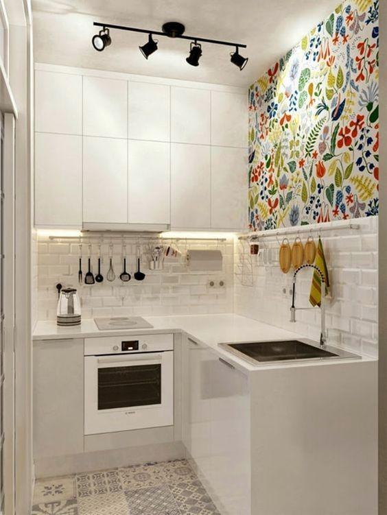 cozinha com mix de estampas