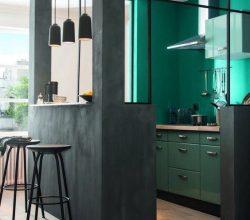 cozinha com verde