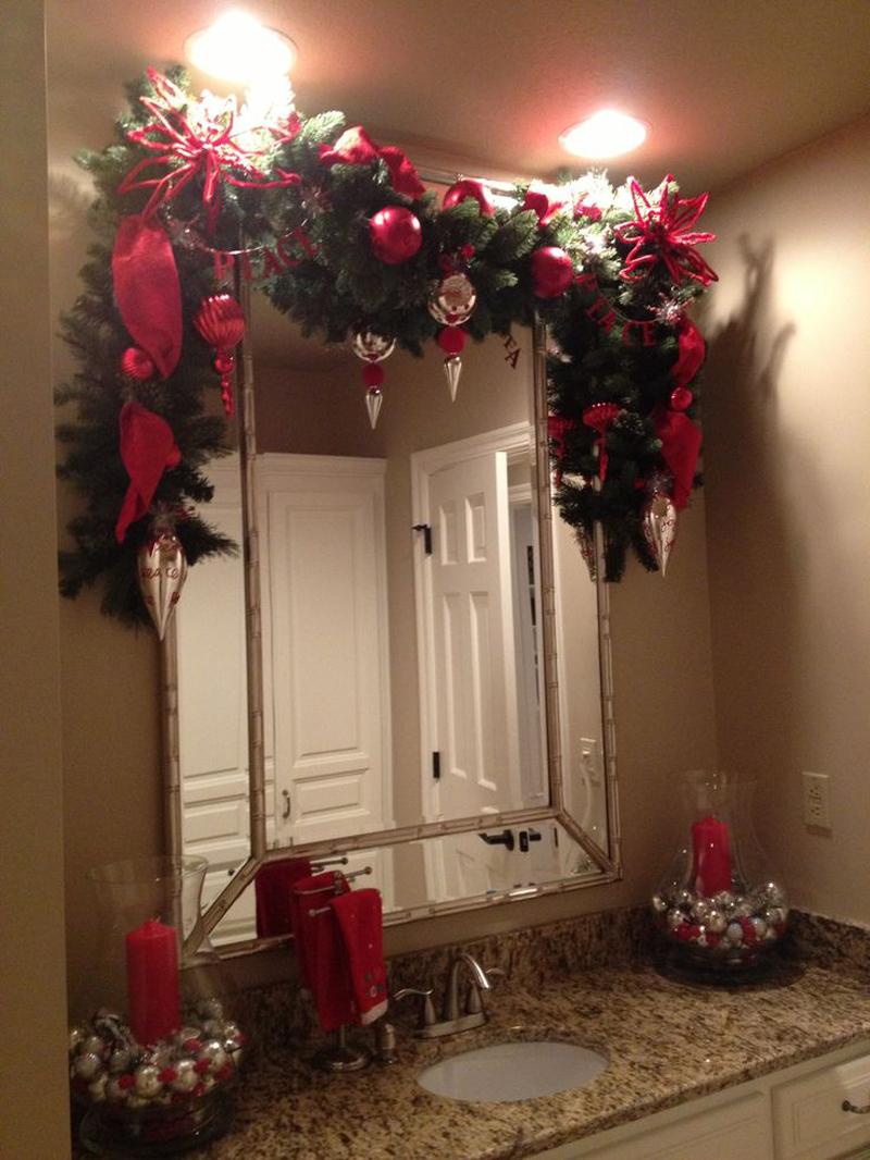 decoração natalina no banheiro