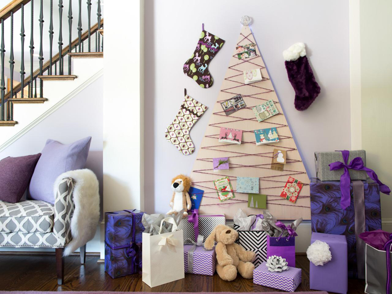 decoração natalina na parede