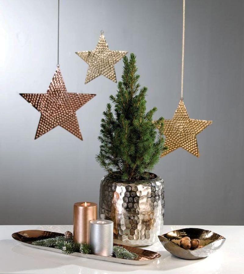 decoração natalina dourada