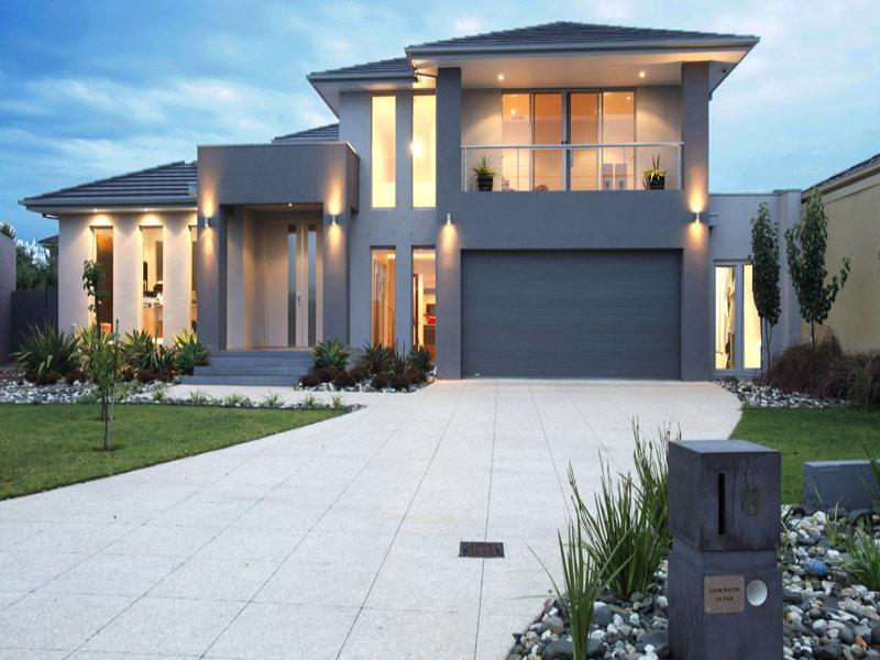 casa linda com fachada cinza