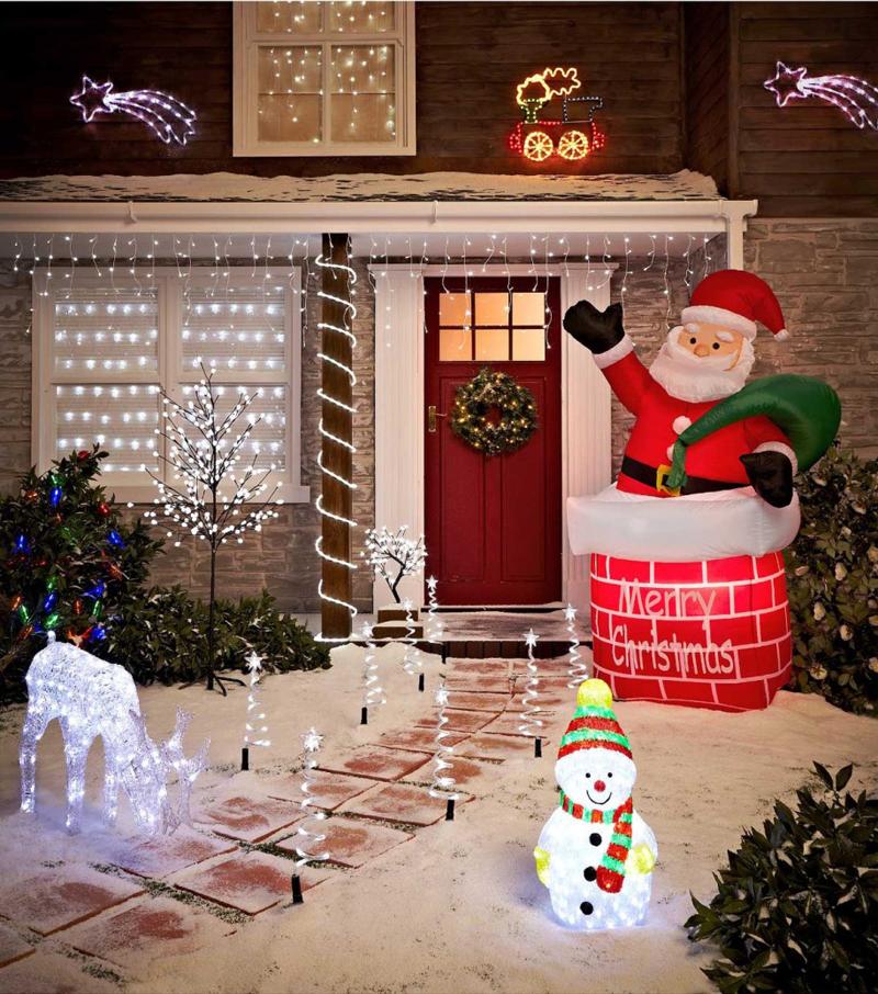 decoração natalina no quintal