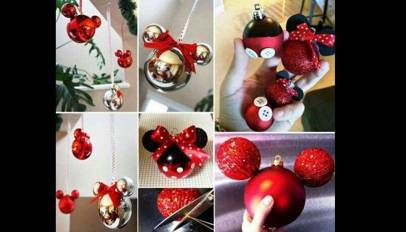 decoração natalina com bolas