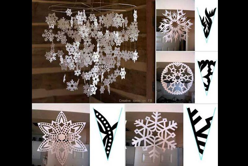 decoração natalina com papel