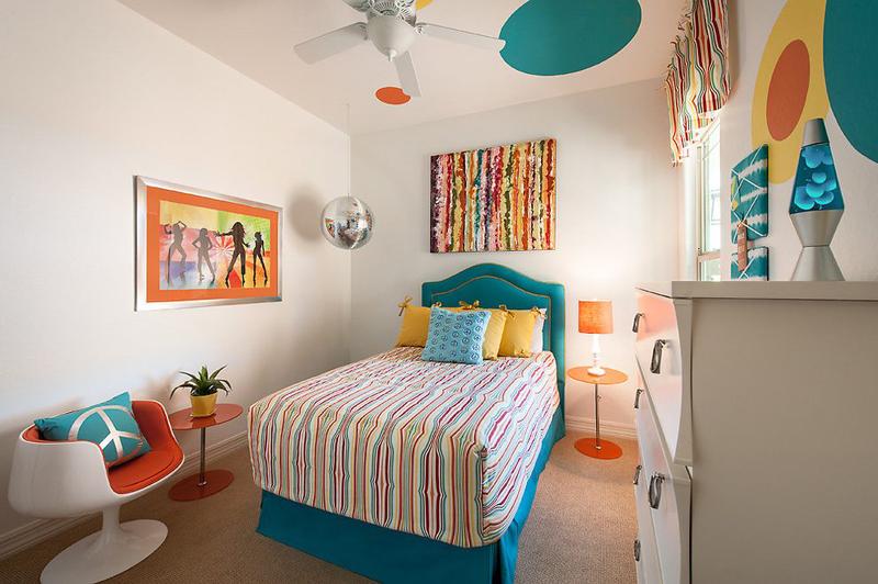quarto com estilo hippie moderno