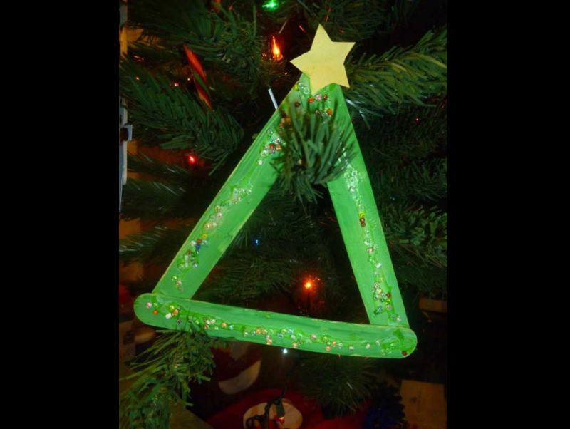 decoração natalina com palitos