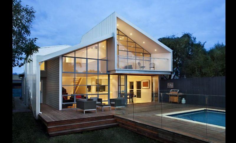 casa linda com vidro e metal