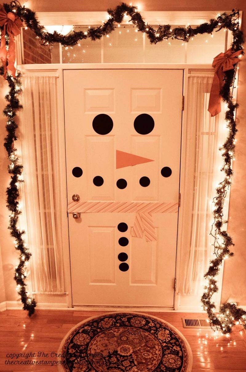 decoração natalina na porta