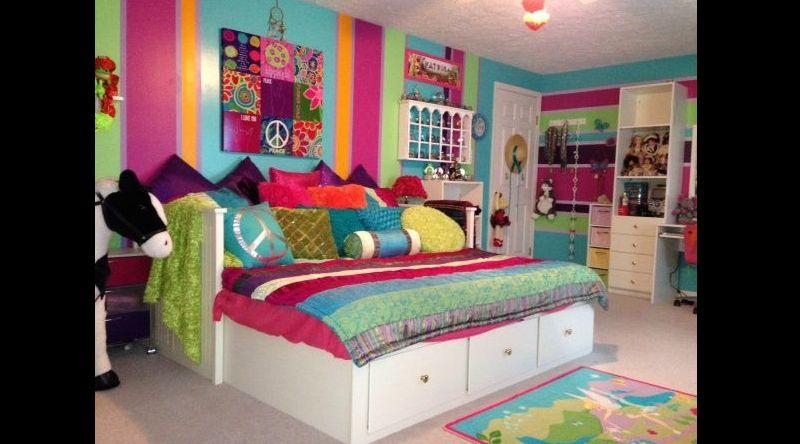 quarto com estilo hippie infantil