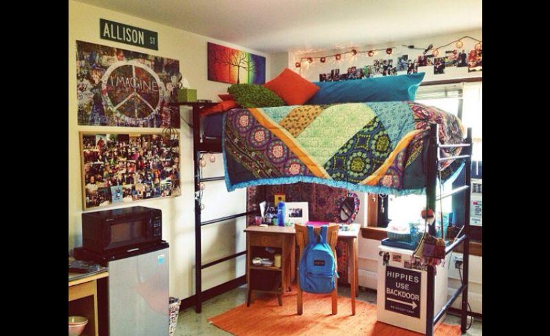 quarto com estilo hippie funcional