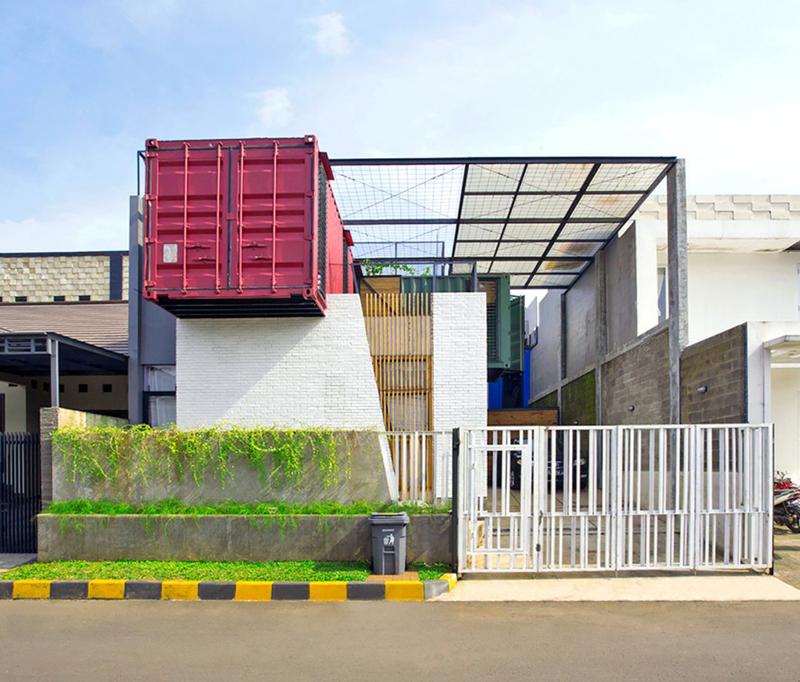 moradia de container com arquitetura