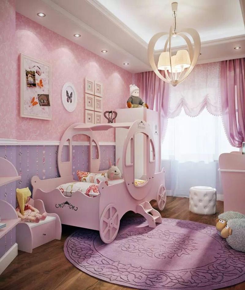 quarto infantil com carruagem