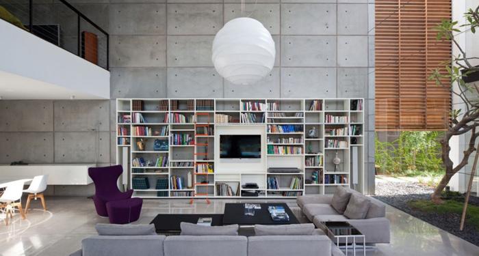 loft parede com concreto aparente