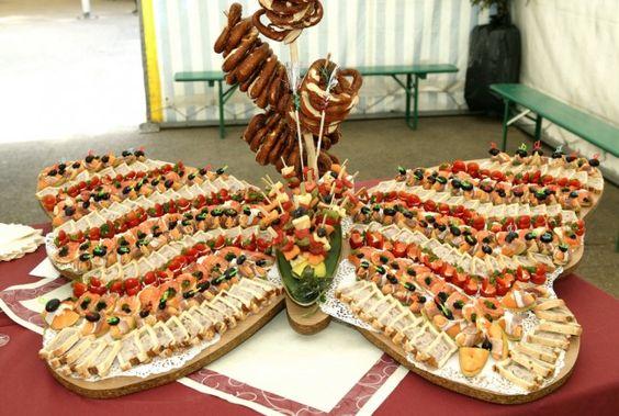 mesa de frios borboleta