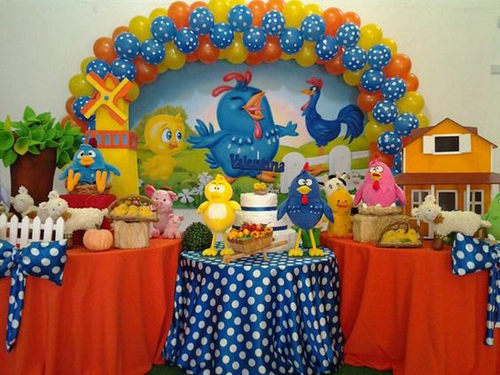 festa da Galinha Pintadinha bolinha