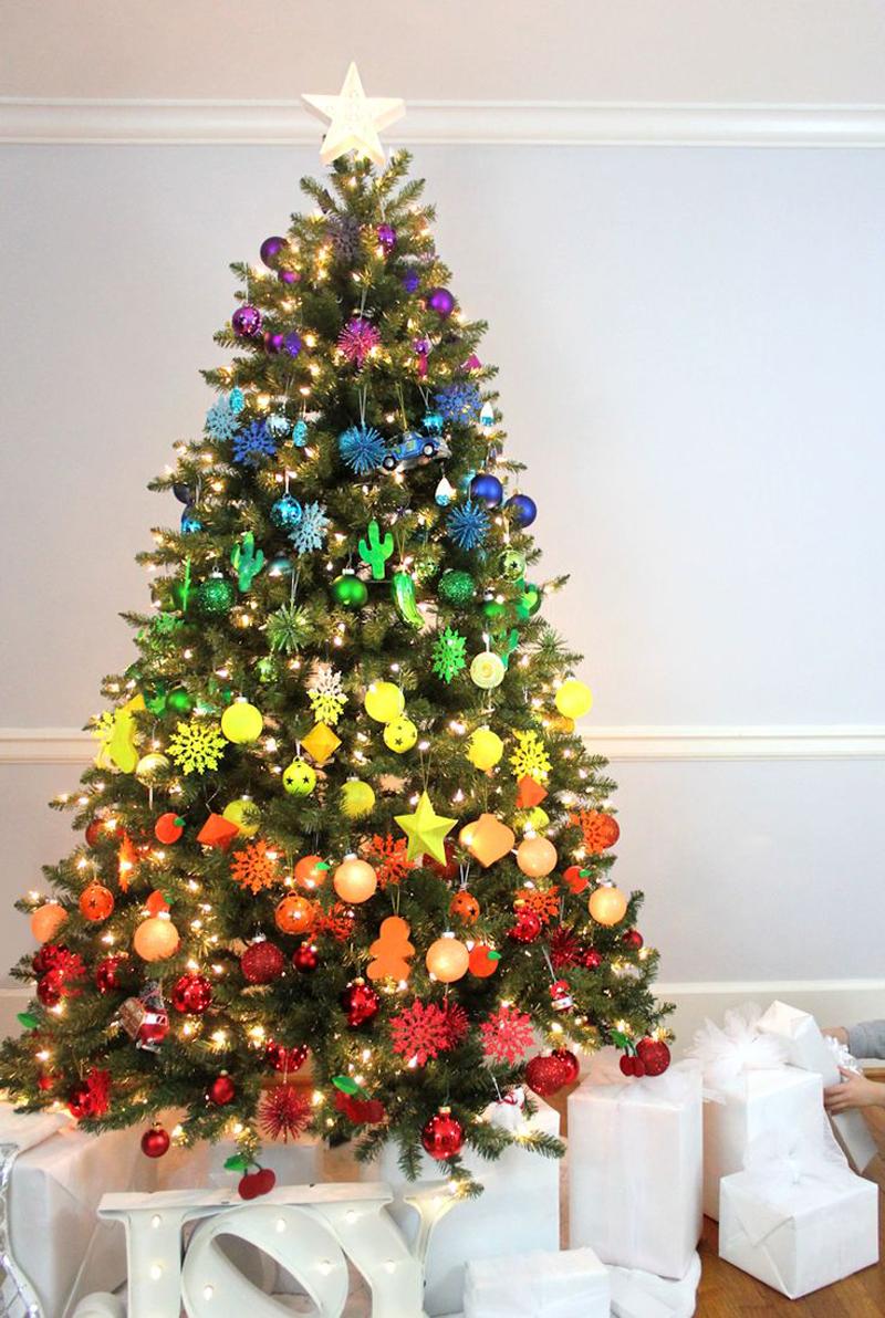 pinheiro natalino arco iris