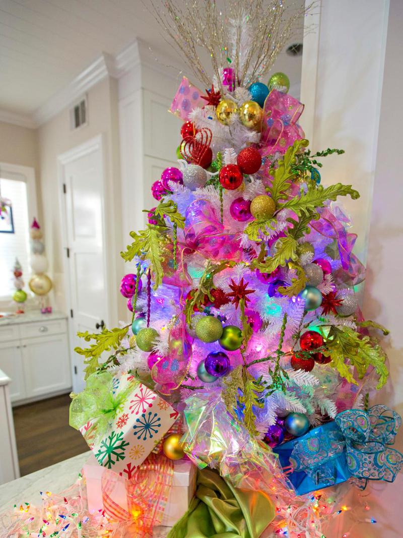 pinheiro natalino colorido