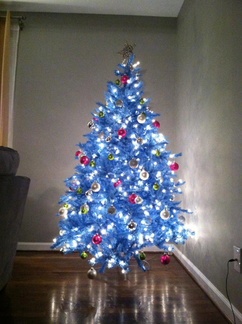 pinheiro natalino azul