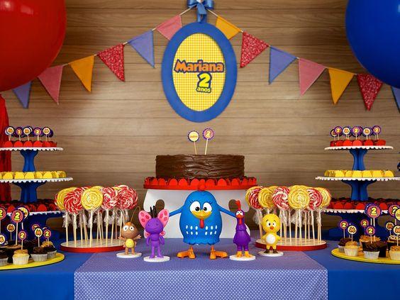 festa da Galinha Pintadinha bolo chocolate
