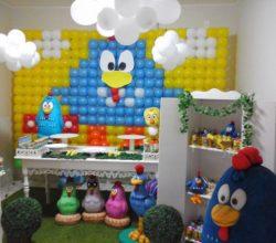 festa da Galinha Pintadinha painel balão