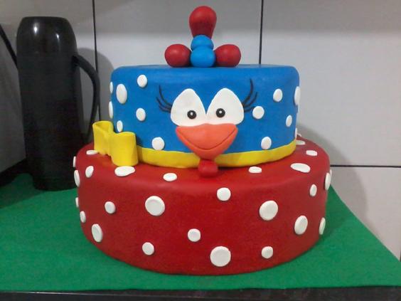 festa da Galinha Pintadinha bolo fake