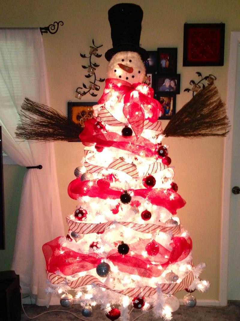pinheiro natalino boneco de neve