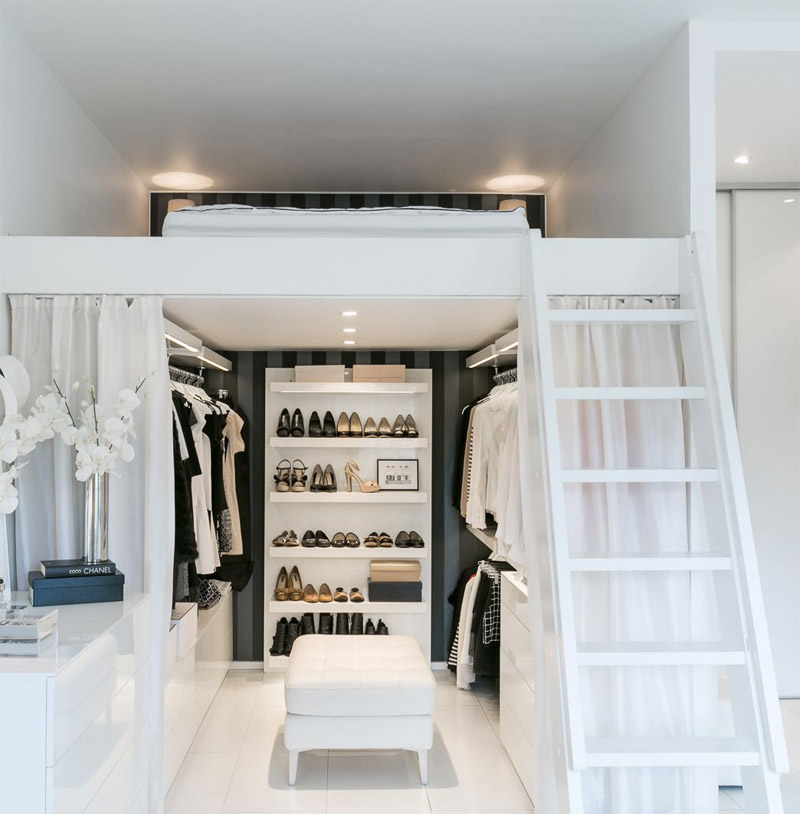 varanda interna no closet