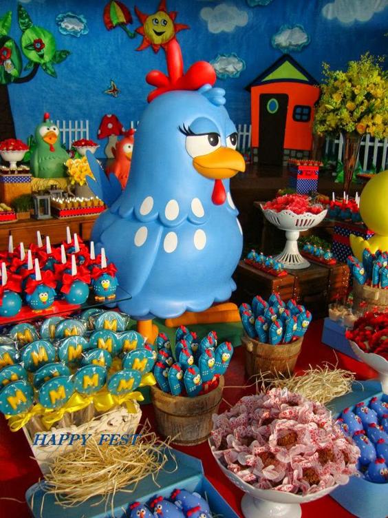 festa da Galinha Pintadinha doces finos