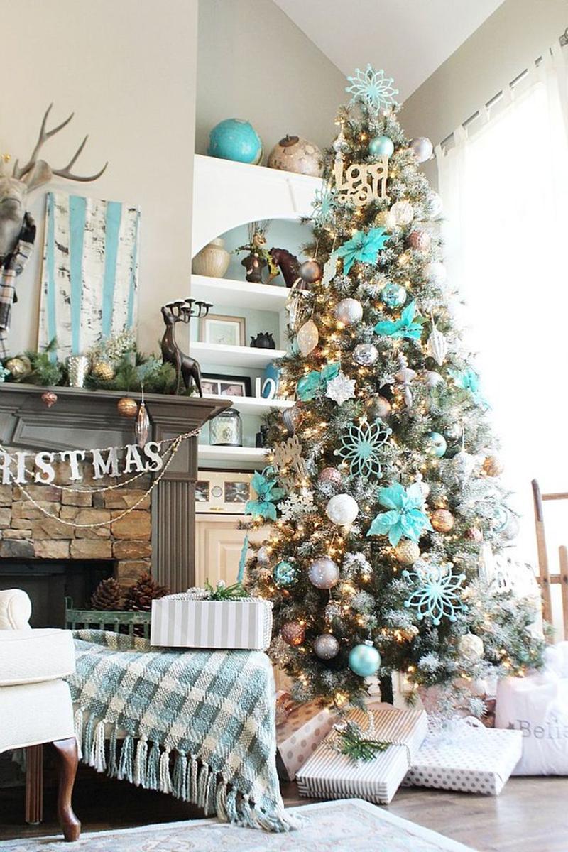 pinheiro natalino turquesa