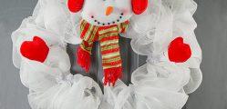 guirlanda natalina boenco de neve