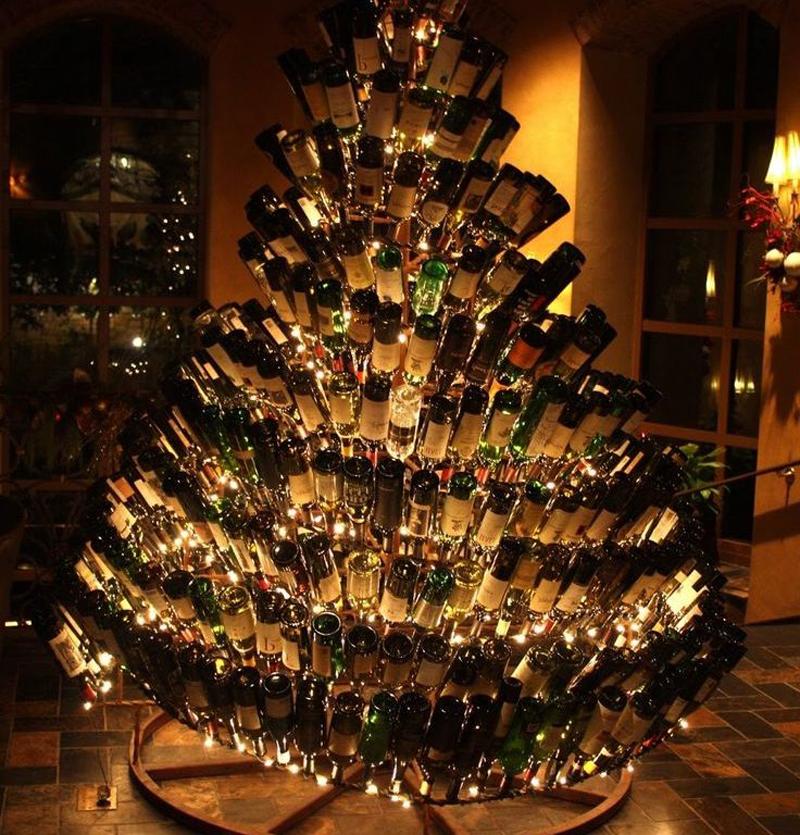 pinheiro natalino de garrafa