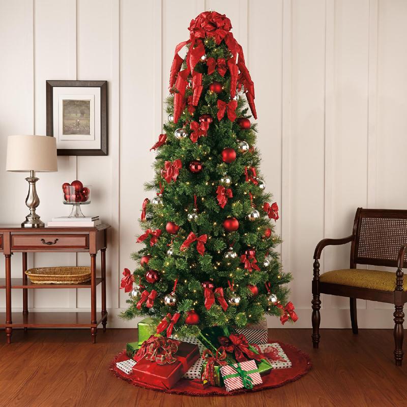 pinheiro natalino flor vermelha